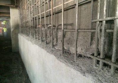 Increasing foundation wall thickness when old foundation walls cannot be removed and replaced-min