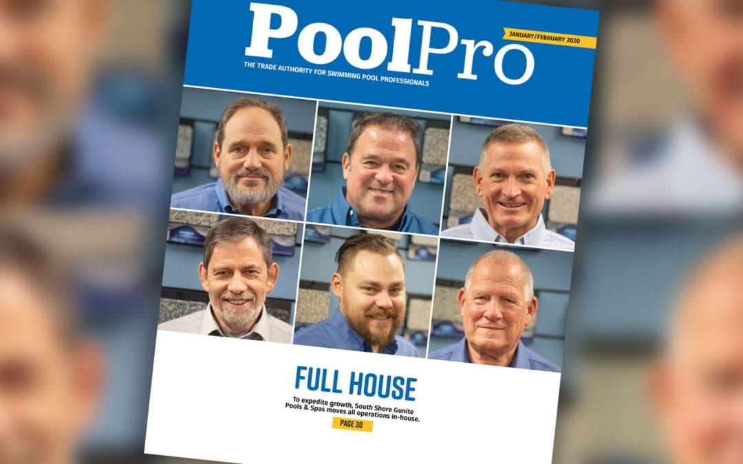 SSG Featured on Front Cover of Pool Pro Magazine